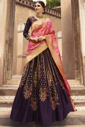 Purple Fancy Designer Lehenga Choli