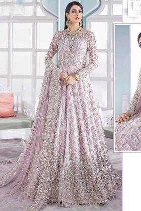Ramzan Eid Light Pink Color Butter Fly Net Pakistani dress Suit with Sabtoon Fabric Salwar