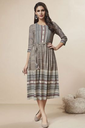 Rayon Multi Color Printed Kurti