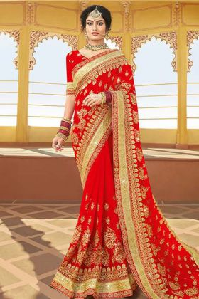 Red Bridal Designer Saree Online