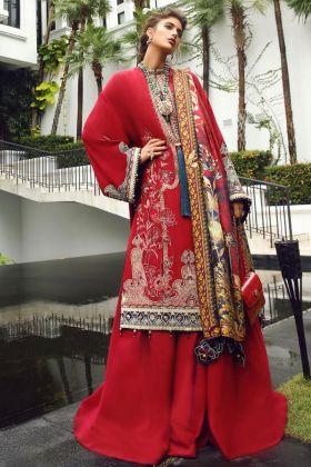 Red Color Party Wear Pakistani Design Suit