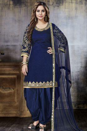 Royal Blue Punjabi Salwar Suit Online