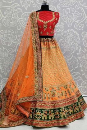 Satin Red Bridal Lehenga Styles For Indian Weddings