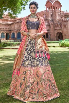 Silk Festival Lehenga Choli Stone Work In Multi Color