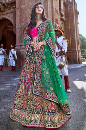 Silk Reception Lehenga Choli In Multi Color