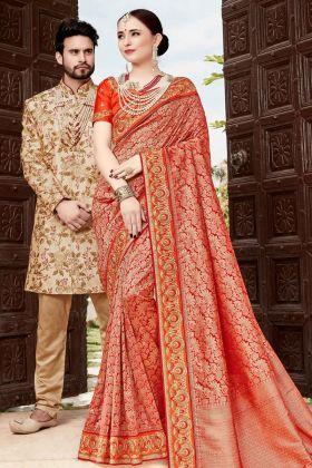 Silk Red Wedding Saree