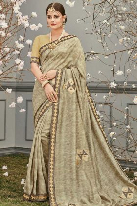 Silky Designer Party Wear Saree Multi Color
