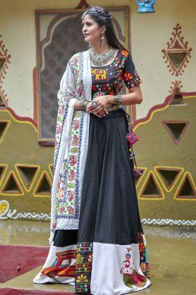 Soft Cotton Black Chaniya Choli