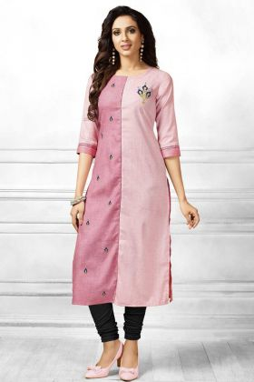 Special Collection Pink Stylish Kurti