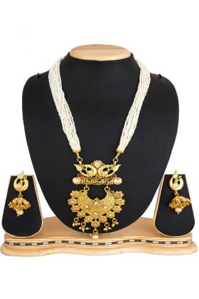 Stone Work Mix Metal Necklace Set