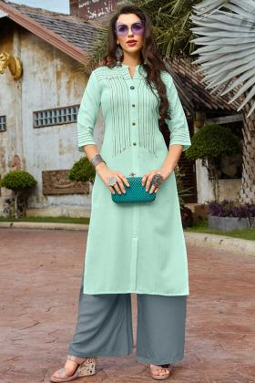 Stylish Palazzo Kurti For Summer