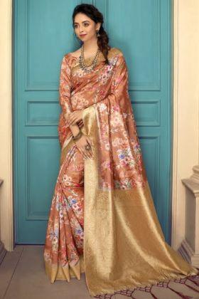 Super Hit Designer Art Silk Multi Color Saree For Wedding