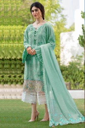 Super Hitting Rama Color Pure Cambric Cotton Pakistani Salwar Suit For Making Special Eid