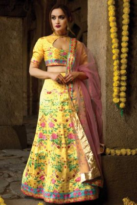 Trendy Stylish Designer Lehenga In Yellow