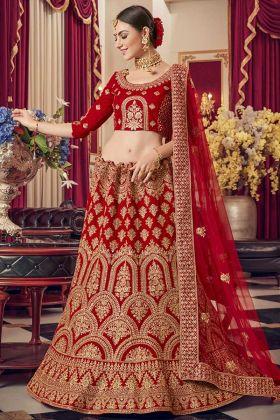 Trendy Velvet Bridal Lehenga Styles For Indian Weddings