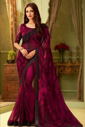 Tubelight Georgette Multi Color Saree