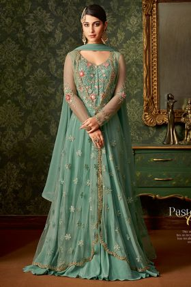 Turquoise Indian Wedding Salwar Suit