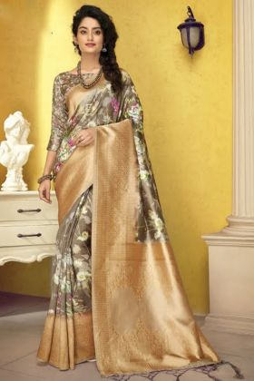 Unique Designer Art Silk Fancy Saree For Special Function