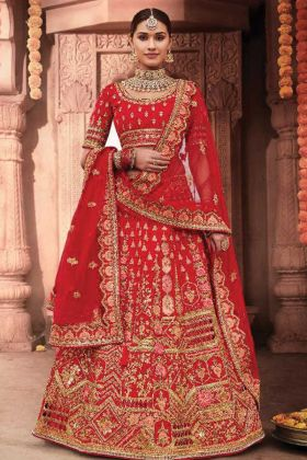 Upcoming Wedding Season With Red Color Bridal Wear lehenga Choli