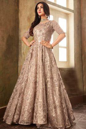 Wedding Collection Net Mistyrose Color Heavy Anarkali Suit
