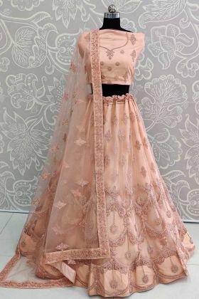 Wedding Season Heavy Designer Lehenga Choli In Light Peach