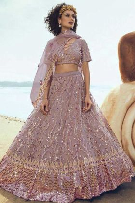 Wedding Soft Net Purple Lehenga Choli New Design 2020-2021