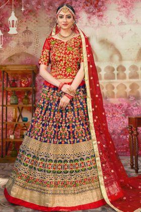 Wedding Wear Designer Heavy Blue Bridal Lehenga Choli