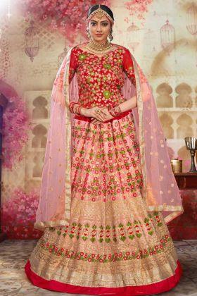 Wedding Wear Designer Light Pink Bridal Lehenga Choli