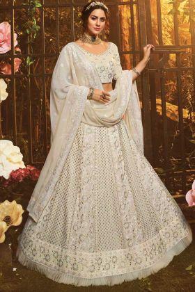 Wedding Wear Latest Designer White Lehenga Choli