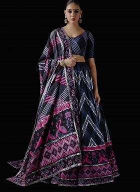 Wedding Wear Multi Color Lehenga Choli