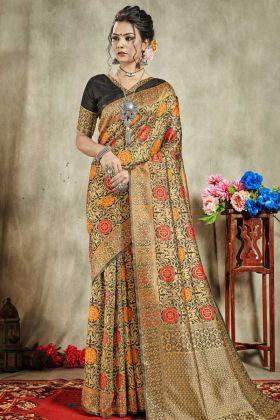 Wedding Banarasi Art Silk Multi Color In Weaving Work