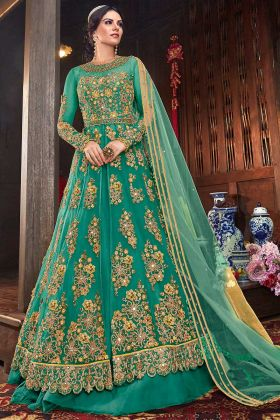 Wedding Season Designer Net Indo Western Suit With Two Bottom