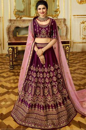 Wine Color Wedding Lehenga Choli