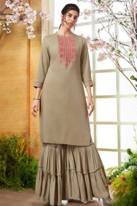 Women Kurta With Sharara kurti