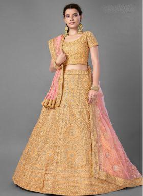 Yellow Haldi Wear Lehenga Choli