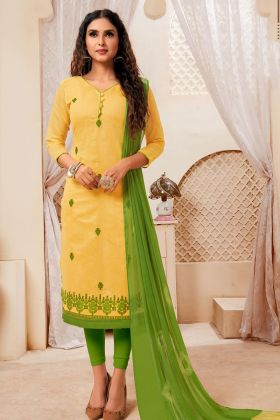 Yellow Modal Silk Salwar Kameez